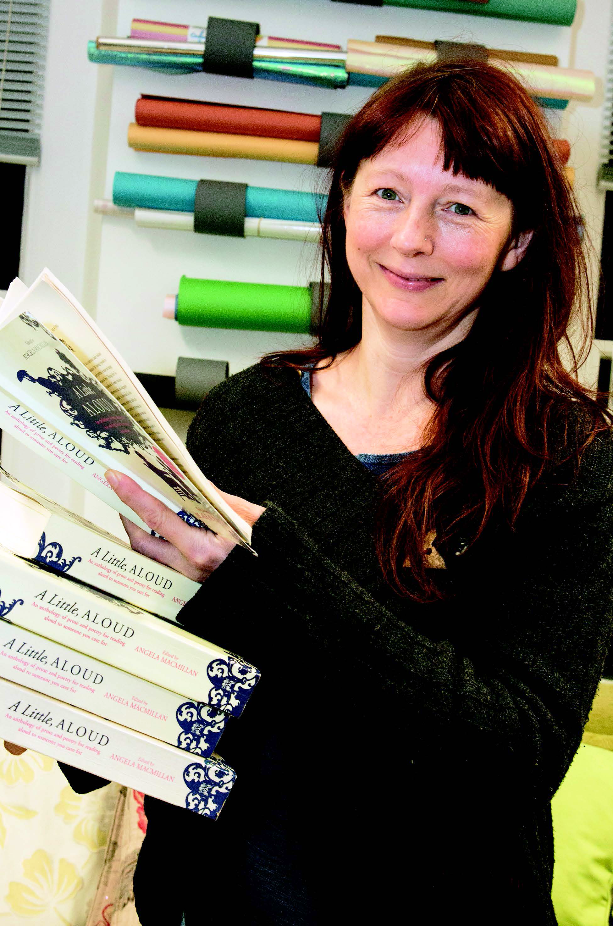 Open Book lead reader Em Strang. Photo credit: Dumfries and Galloway Life magazine (c) 2018